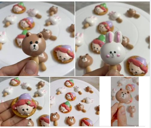 bear meringue cookies